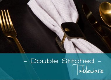 Double Stitched, lederen placemats & tableware