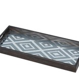Notre monde Tray mirror rectangular Diamond