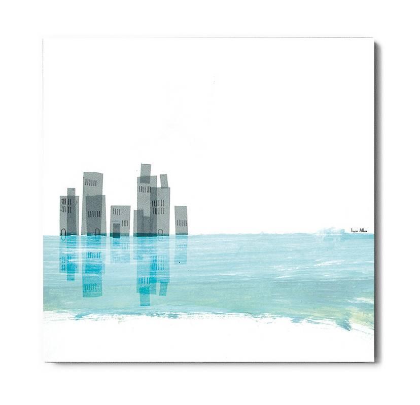 Lyon Béton schilderij beton City and Sea