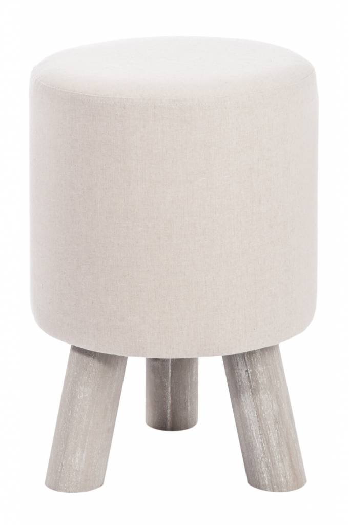 J-Line stool round cream