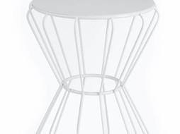 J-Line Bijzettafel metaal wit