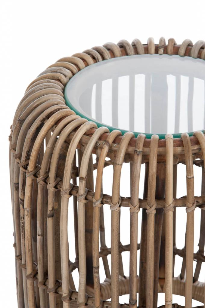 J-Line Side Table rattan round