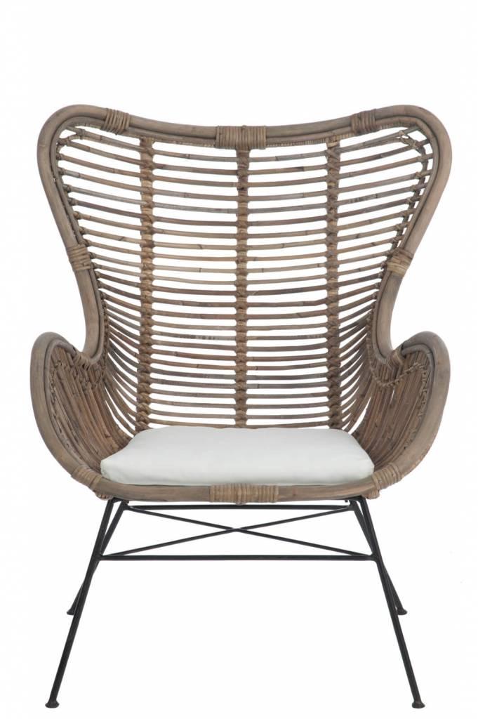 Rotan stoel buiten cheap rotanstoel belse laag with rotan for Lounge stoel buiten