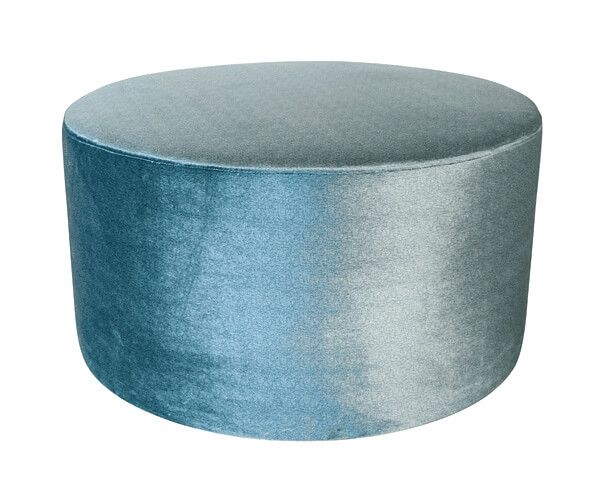 Dome Deco Poef rond Turquoise
