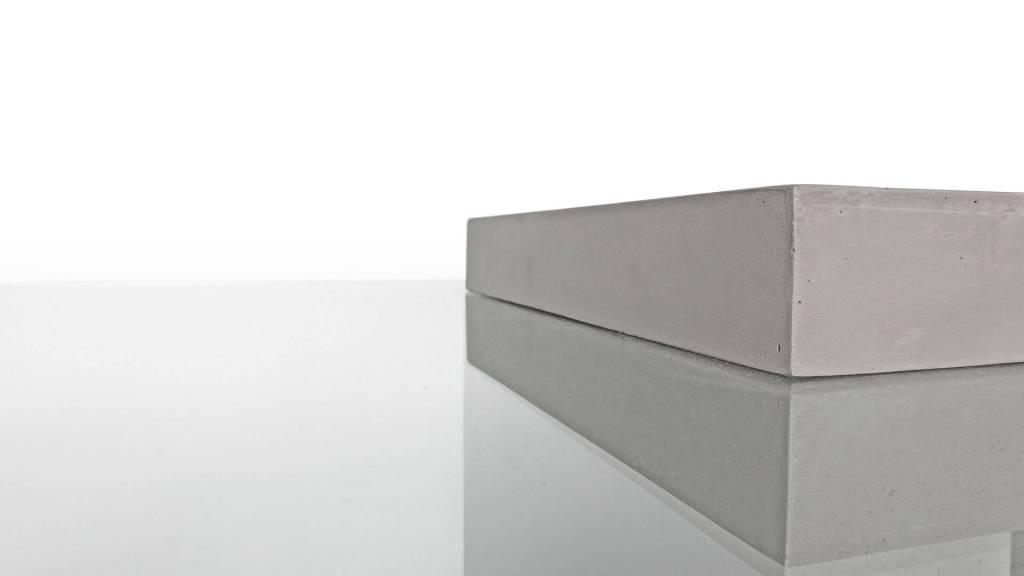 Lyon Béton Salontafel Lyon Béton van beton en glas