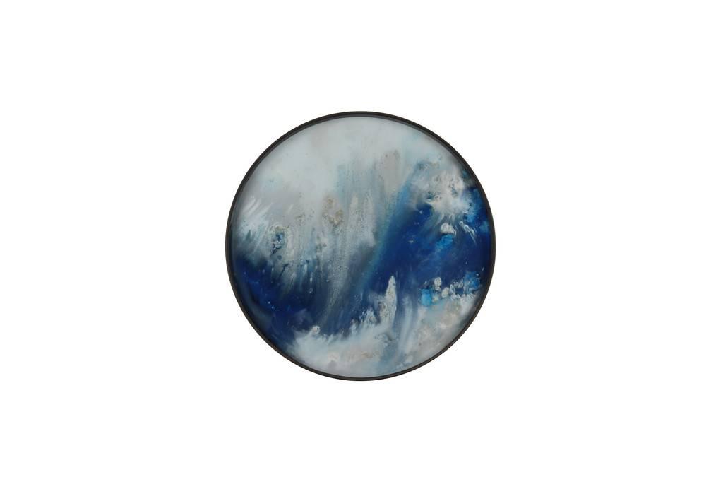 Notre monde Tray round Blue Mist