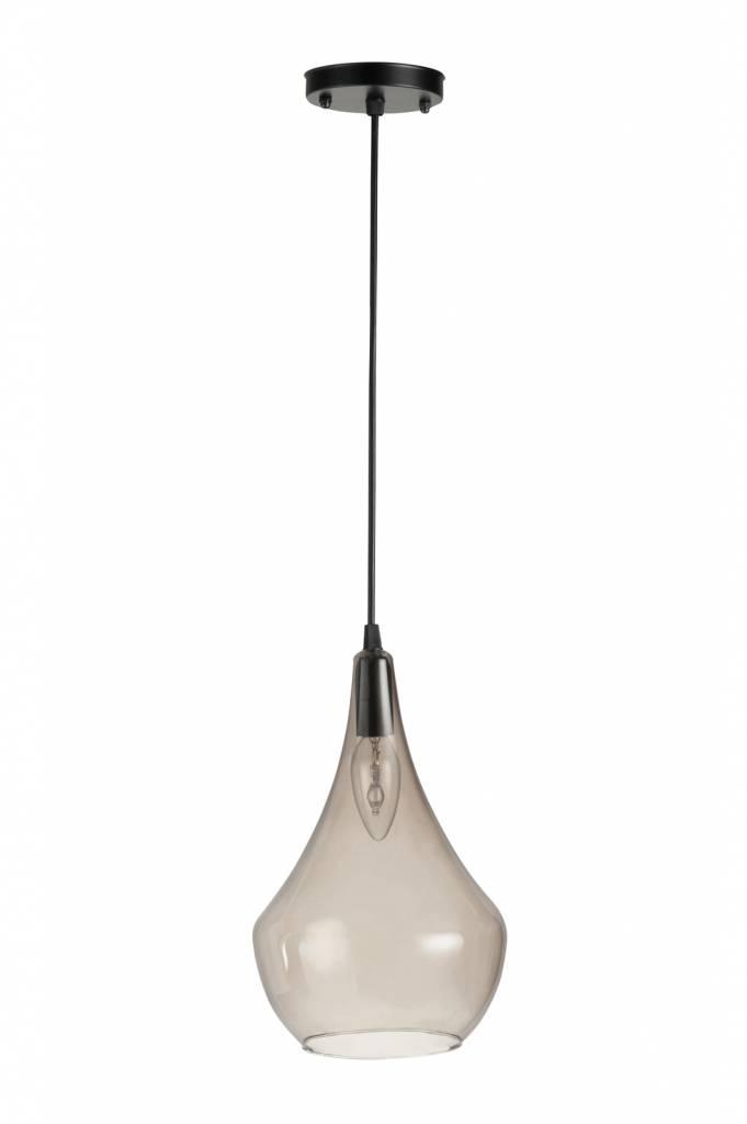 J-Line Hanglamp Peer glas grijs