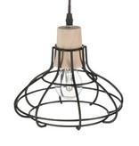 J-Line Hanglampen set van 3 metaal & hout