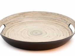 Dome Deco Tray Bamboo