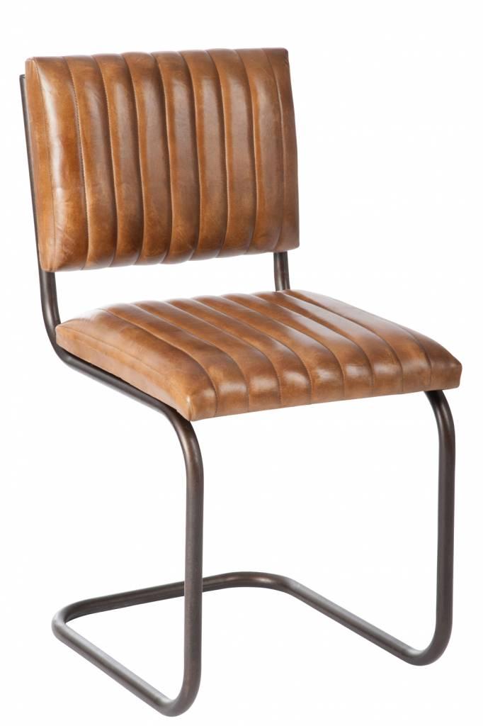 J-Line Chair Industrial cognac leather