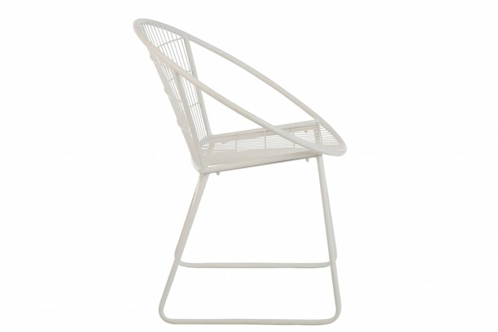 J-Line Chair Eli Metal White