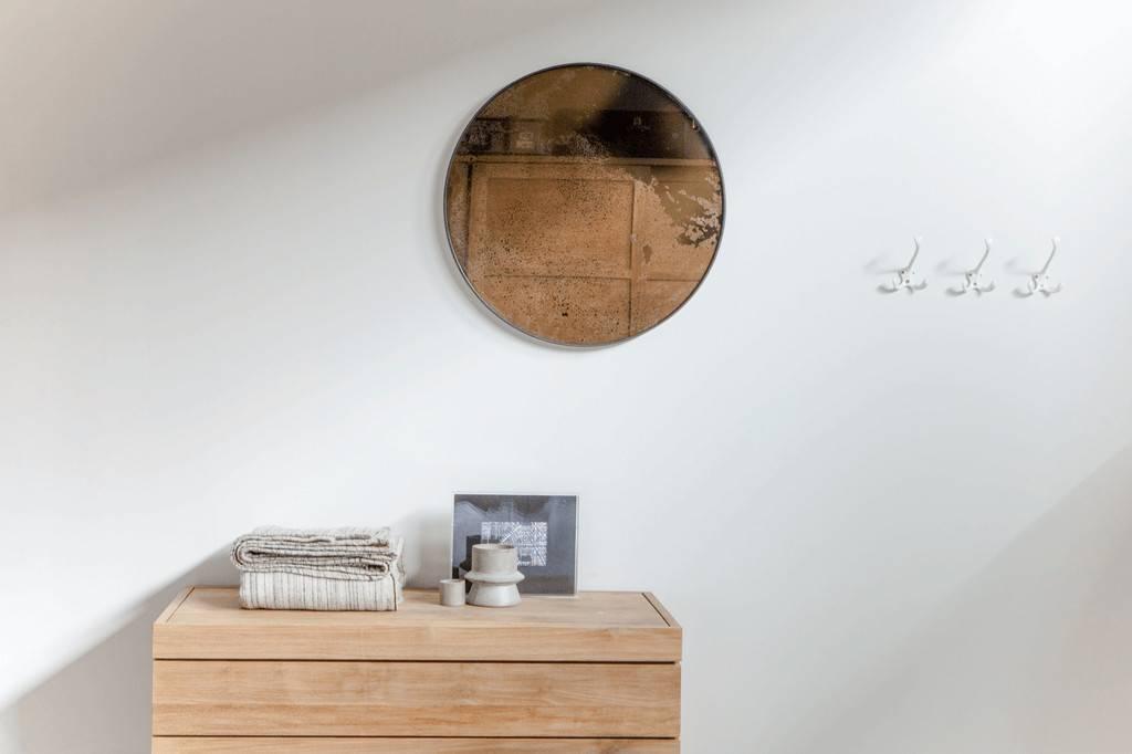 Ronde Zwarte Spiegel : Ronde spiegel zwart. amazing ronde retro spiegels zwart en wit with