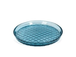 Dome Deco Glass plate blue