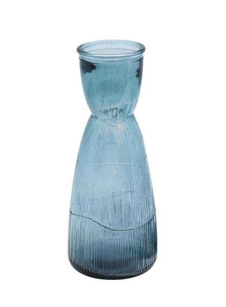 Dome Deco Water decanter glass or vase blue