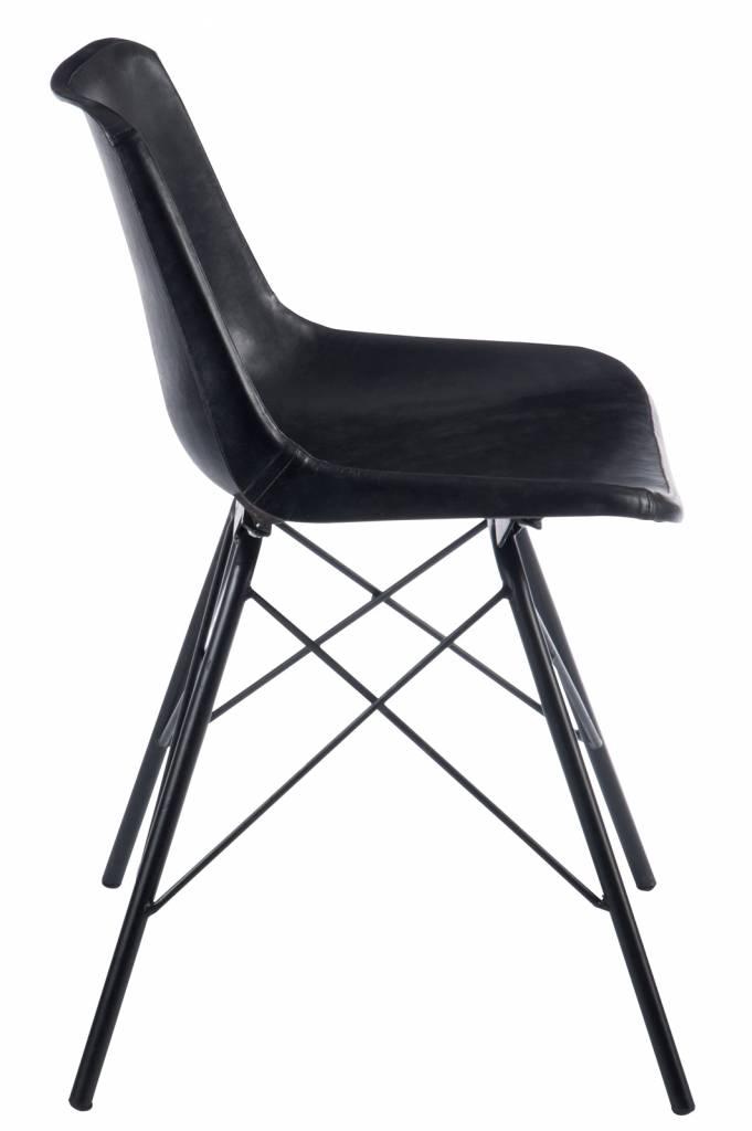 J-Line Zwarte stoel kruis