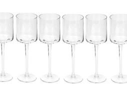 Dome Deco Set van 6 wijnglazen wit