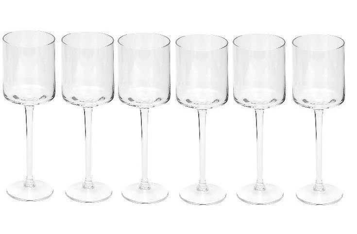Dome Deco Witte wijn glas - set van 6