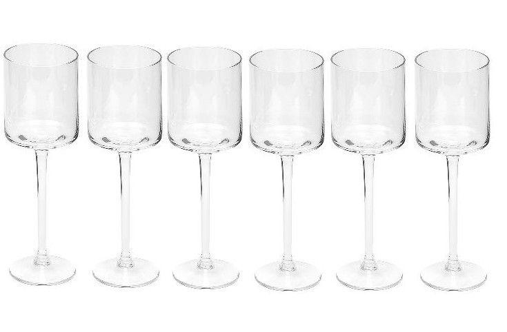 Dome Deco Witte wijnglas - set van 6