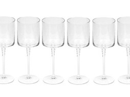 Dome Deco Rode wijn glas - set 6
