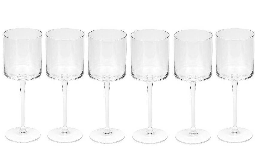 Dome Deco Rode wijn glas - set van 6
