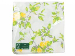 J-Line Napkins Lemon