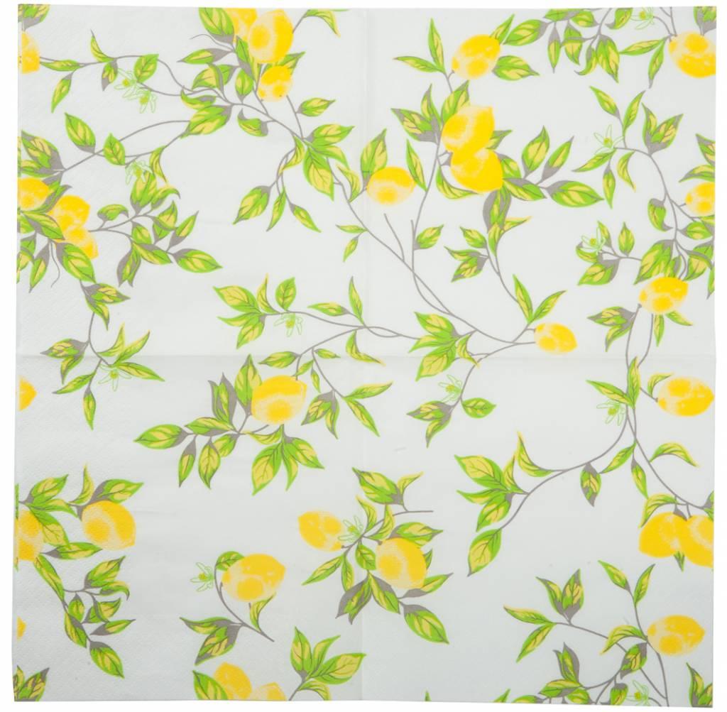 J-Line Paper napkins Lemon