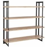 J-Line Bookshelf metal & wood