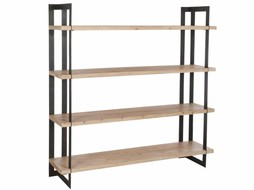 J-Line Bookshelf metal & wood