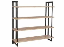 J-Line Rek 4 plank Hout/Metaal