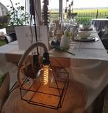 Un Esprit en Plus Linnen lamp met lampenkap