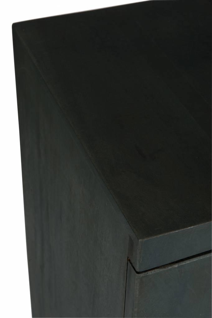 J-Line Black buffet metal & wood