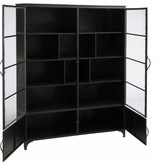 J-Line Blackened metal display cabinet