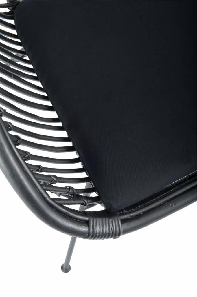 J-Line Lounge chair rattan black