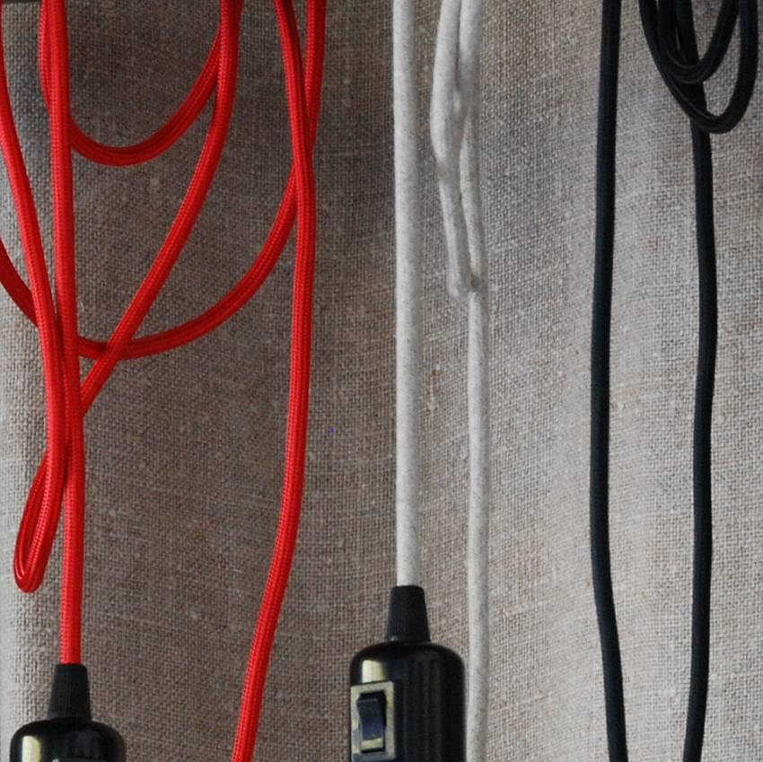 Un Esprit en Plus Flexible lamp fabric cable Red