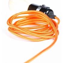 Un Esprit en Plus Flexible lamp fabric cable orange