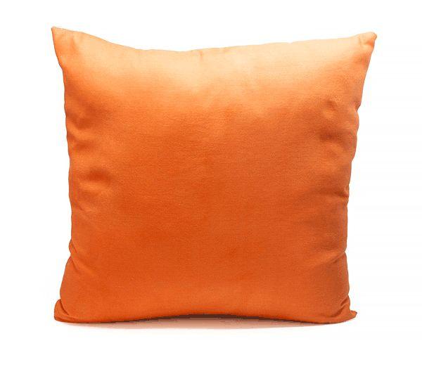 Dome Deco Kussen warm oranje & wit