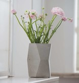 Atelier Pierre Facet Flower pot natural light grey