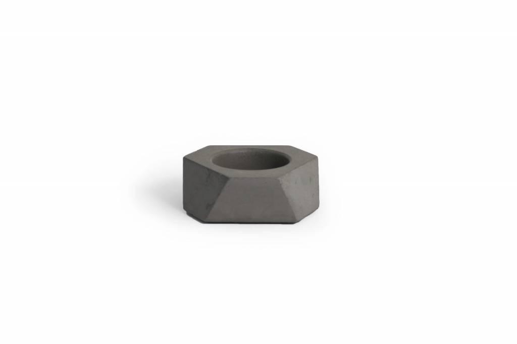 Atelier Pierre Facet Mini T-Light concrete dark grey