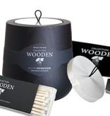 Hypsoe Geurkaars Wooden Collection Zwart