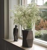 Atelier Pierre Facet Flower pot donker grijs beton