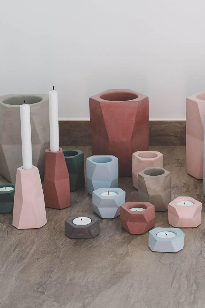 Atelier Pierre Facet wijnkoeler donker grijs beton