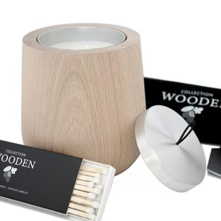 hypsoe geurkaars wooden set