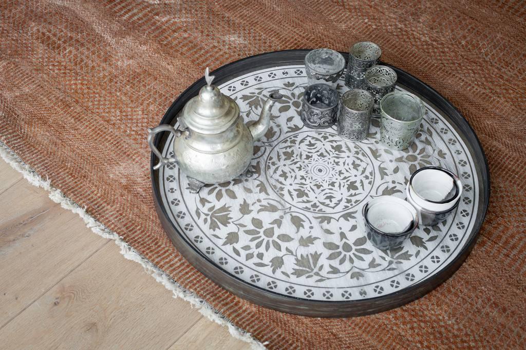 Notre monde Tray Driftwood White Marrakesh