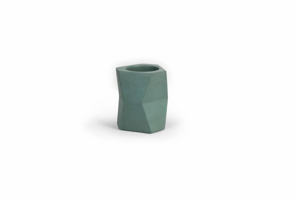 Atelier Pierre Facet Flower pot concrete Forest green