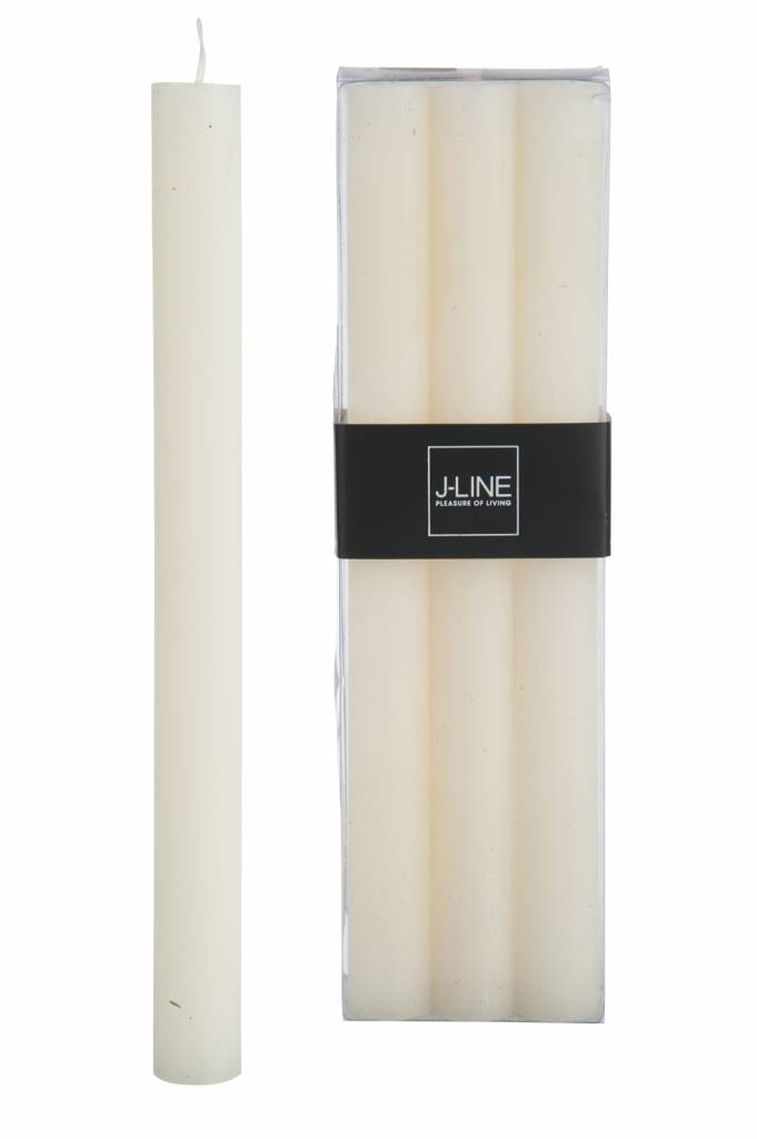 J-Line Tablecandle white 6pieces