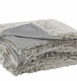 J-Line Throw faut fur Light grey