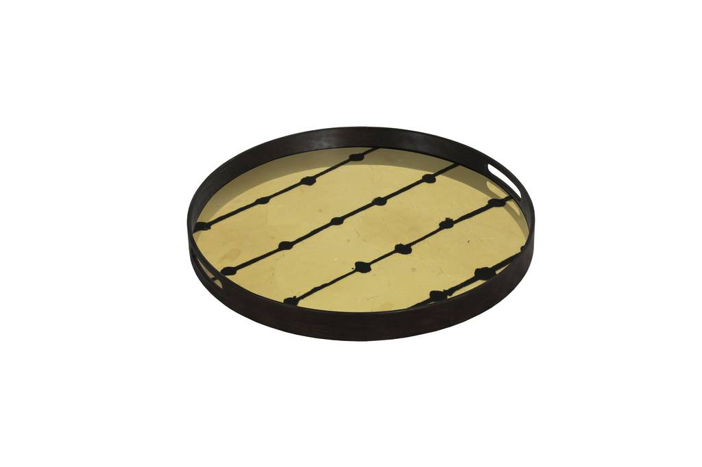 Notre monde Tray Brown Dots small