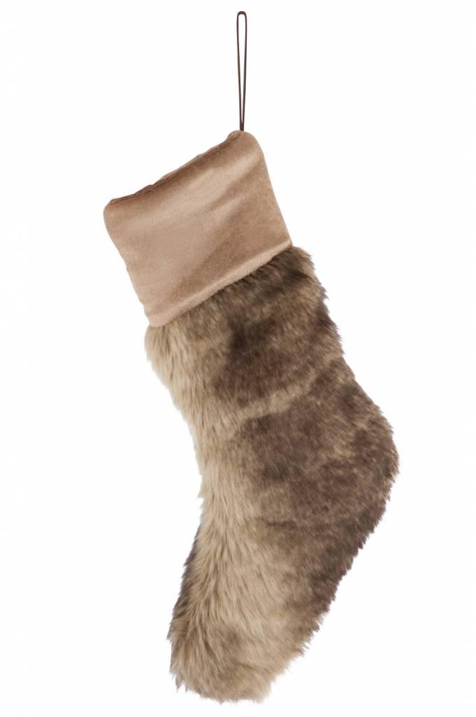 J-Line Christmas stocking faux fur