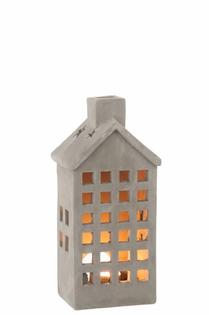 J-Line Tealight holder House concrete S