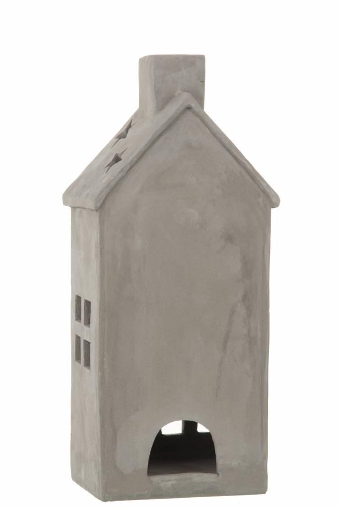 J-Line Tealight holder House concrete L